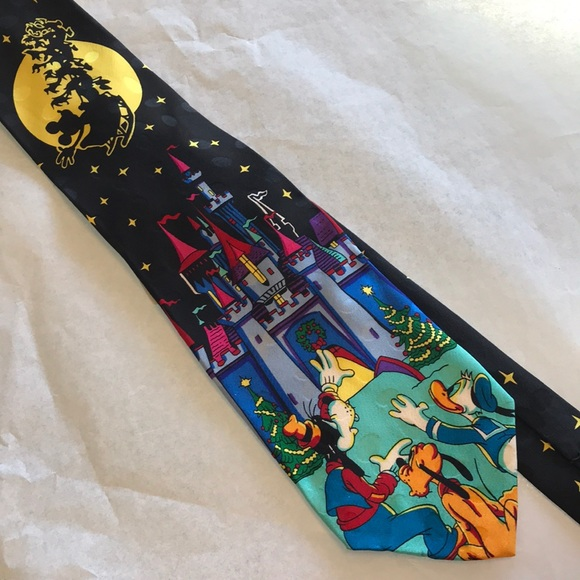 Disney Other - Disney Christmas in June Tie Mickey Mouse Castle